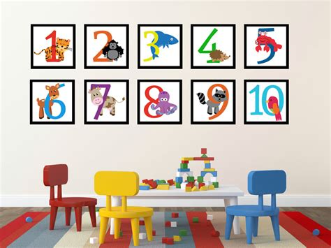 number wall stickers number wall decals numbers wall decoration number decals