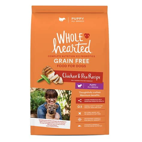 petco grain free food wholehearted puppy food grain free chicken pea petco
