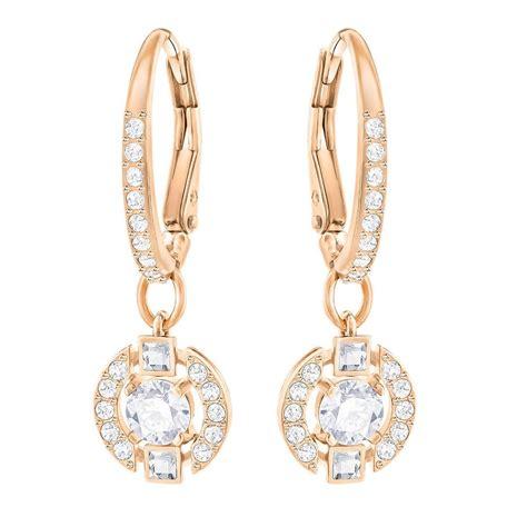 Swarovski Earrings swarovski sparkling gold clear