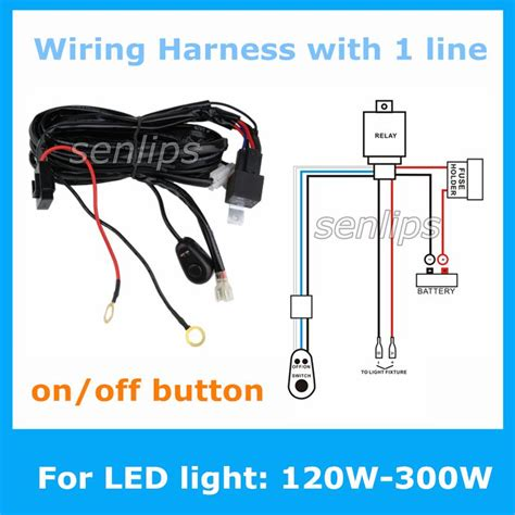 2015 new auto wiring harness kit led hid light bar wire