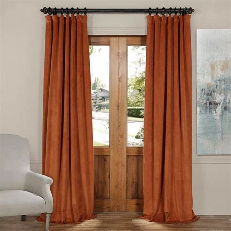 orange velvet curtains exclusive fabrics furnishings signature rusty gate