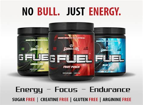 g fuel energy drink ingredients g fuel by gamma labs at bodybuilding lowest prices