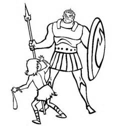 35 David And Goliath Coloring Pages  ColoringStar sketch template
