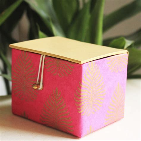 Recycled Handmade Paper - pink recycled handmade paper box the white light