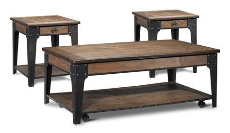 Espresso Coffee Table And End Tables Lakehurst Lift Top Coffee Table And Two End Tables Aged Oak S