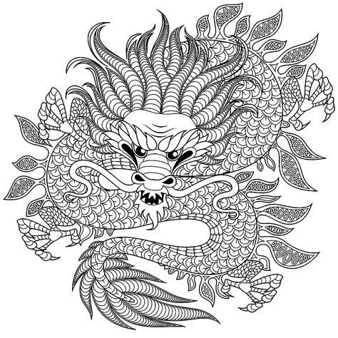 dragones  dragones colorear  adultos