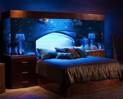 aquarium bed headboard headboard fish tank lets you literally sleep with the fishies