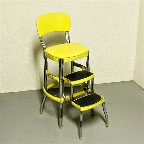 vintage kitchen stools with steps vintage cosco stool step stool kitchen stool by oldcottonwood