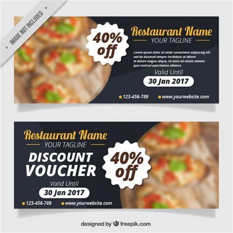 printable vouchers restaurants restaurant discount coupons vector premium download