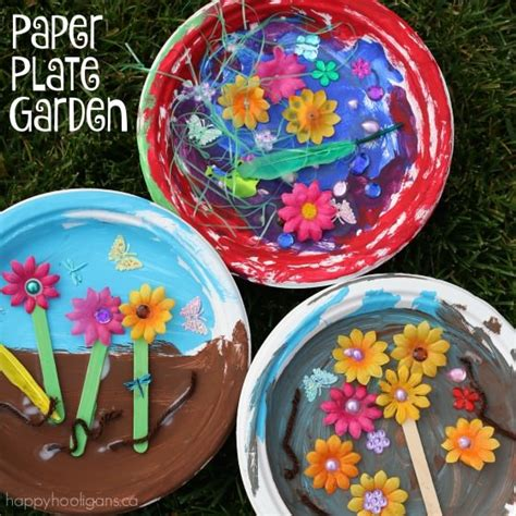 garden craft ideas paper plate garden a letter quot g quot craft happy hooligans