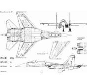 Sukhoi Su 27 Blueprint  Download Free For 3D