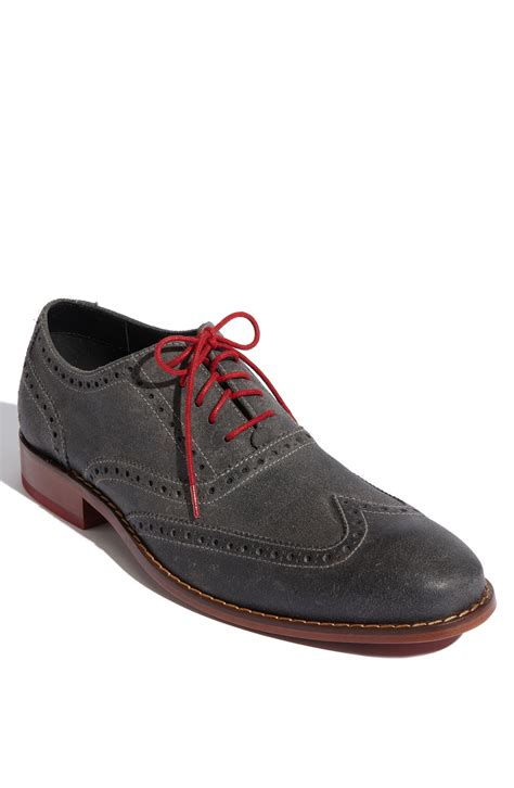 oxford wingtips shoes cole haan air colton wingtip oxford in gray for grey