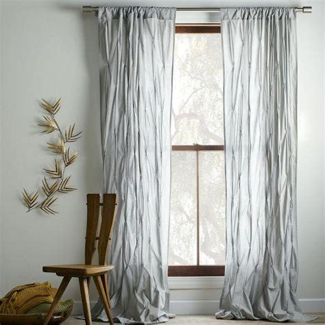 west elm curtain panels pintuck curtain platinum west elm