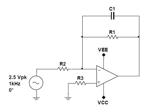 op capacitor resistor op what is the purpose of a resistor on the non inverting terminal of an op integrator
