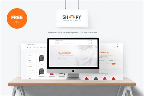 shopy free e commerce website template freebies fribly
