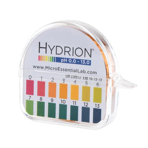 How To Make Ph Paper - hydrion 93 s r insta check ph test paper dispenser level