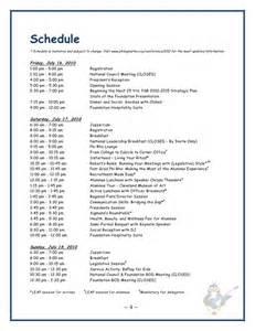 Sample Wedding Programs Template Leadership Conference 2010 Registration Packet