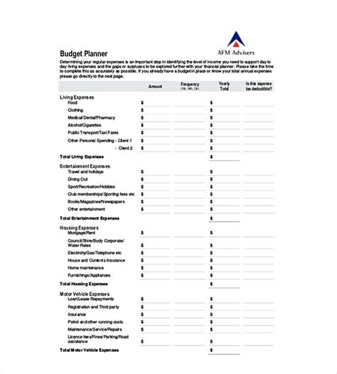 yearly budget planner template 13 excel budget template mac