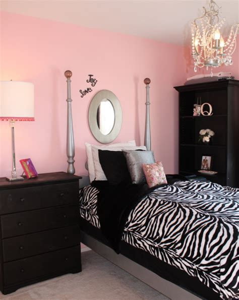 black and pink bedroom pink black girls rooms design dazzle