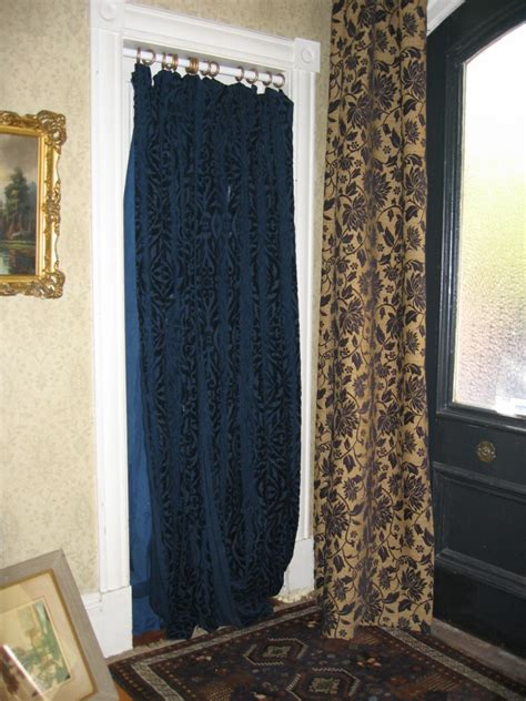 door way curtains putting up curtains to hide a false door townhouse