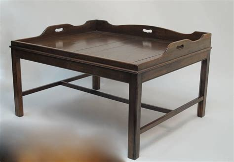 georgian mahogany butler s tray coffee table for sale at