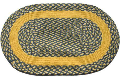 blue and yellow braided rug williamsburg blue yellow block yellow band oval braided rug