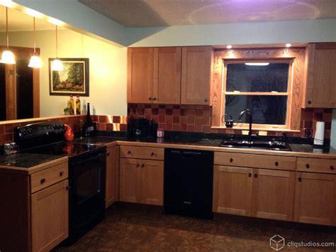 copper backsplash kitchen copper tile backsplash kitchen contemporary with accent