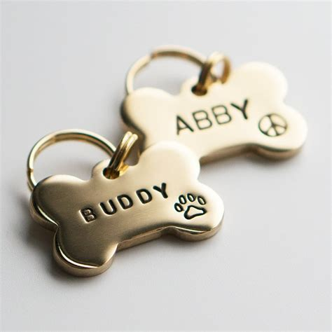 best tags for tag pet id tag bone shaped tag brass customized