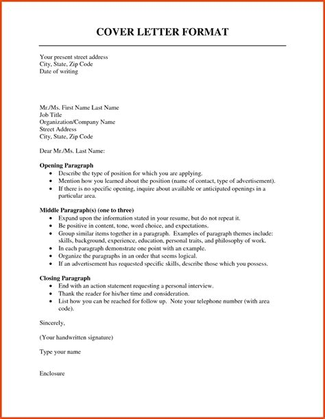 Basic Cover Letter Structure by Basic Cover Letter Format Moa Format