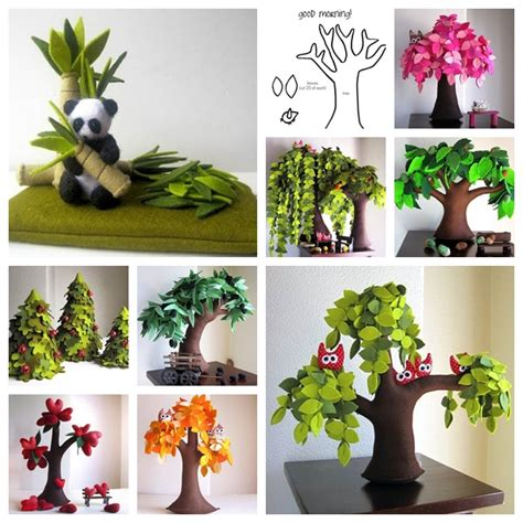 Handmade Trees Craft - wonderful diy handmade felt trees wonderfuldiycom