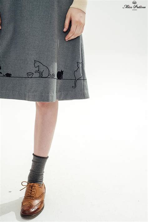 5 Vintage Style Inspirations by Feline Fling Skirt Grey Available At Misspatina