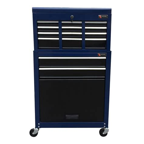 Husky 52 In 9 Drawer Mobile Workbench With Solid Wood Top by Husky 52 In W 9 Drawer Mobile Work Bench Black 75809ahr