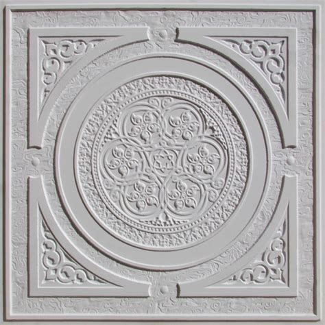 Decrotive Ceiling Tiles by 225 White Matte Decorative Ceiling Tile 24x24 Steunk