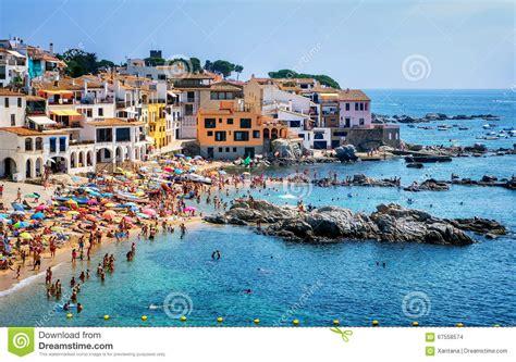 Summer House Plans by Sand Beach In Calella De Palafrugell A Popular Resort