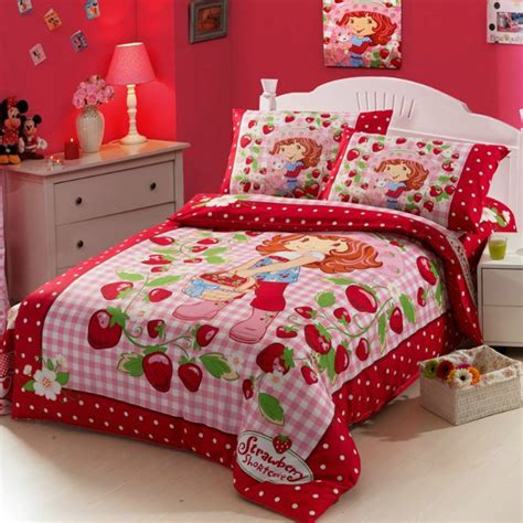 strawberry shortcake bedroom set super mario bedding set girls twin full size bedding kids