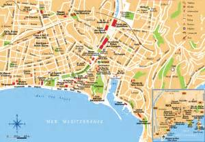 Map Of Nice France nice france tourist map nice france mappery