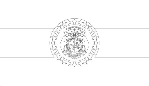 Free State Flag Of Minnesota Coloring Pages Missouri State Flag Coloring Page