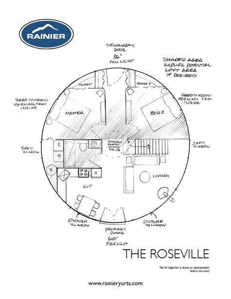 yurt floor plans interior rainier yurts the roseville floor plan little bitty