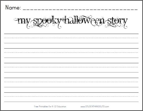 my spooky halloween story free printable k 2 writing