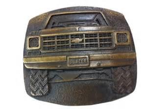 vintage solid brass chevy blazer belt buckle belt