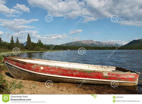 skiff travel old red rowboat stock image image of dinghy skiff