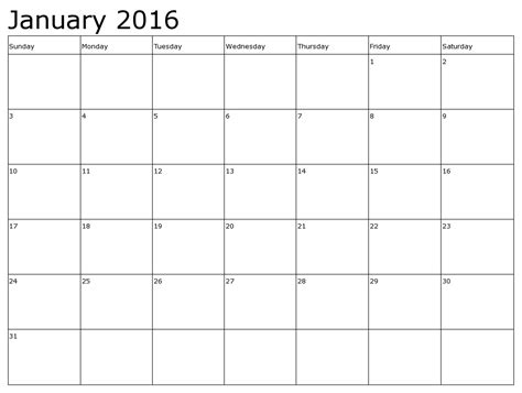 printable january 2016 day planner printable january 2016 calendar for kids download