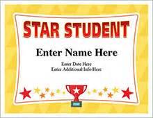 star student certificate template free award certificates