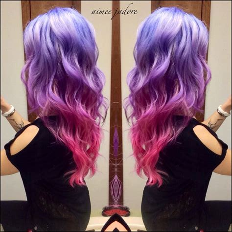 pink and purple ombre love my ombr 233 pink and purple hair so fun blonde