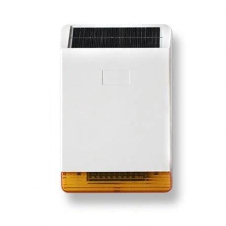 lade ad energia solare da esterno sirena da esterno a pannello solare per hdpro sicurezzapoint