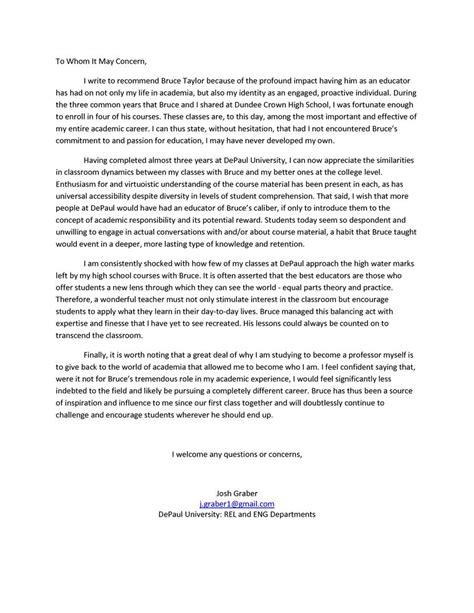 Letter Of Recommendation Sle For Student recommendation letter for a student 8 letter of