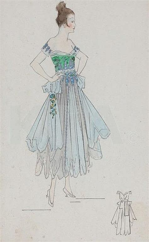 Studio C Sketches List by Ca 1915 1916 Lucile Sketch For Gala Dress Grand
