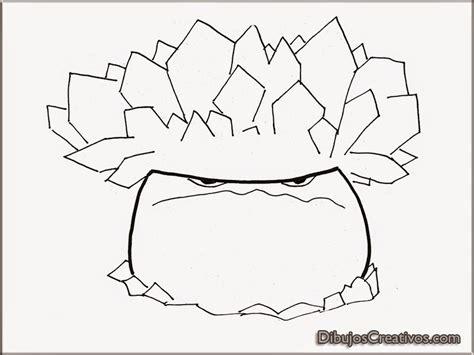 imagenes para pintar zombie dibujos de seta congelada plantas vs zombies para colorear
