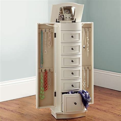 pottery barn jewelry armoire chelsea jewelry armoire walk in drawers and storage