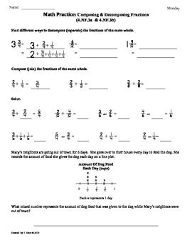 Decompose Fractions Worksheet by 4 Nf 3a B Composing And Decomposing Fractions 4th Grade